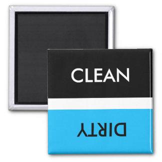 Clean Dirty Blue White Black Magnet