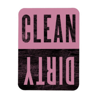 Clean | Dirty Cashmere Rose Dishwasher Magnet