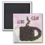 """CLEAN / DIRTY"" Coffee Bean Mug Diswasher Magnet"