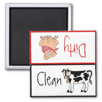 Clean/Dirty Country Kitchen Dishwasher Magnet