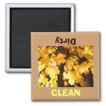 Clean Dirty Dish Washer magnet Golden Autumn
