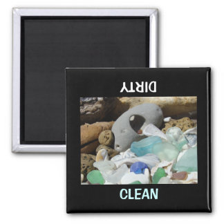 Clean Dirty dish washer Magnets Dishwasher custom