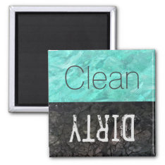 Clean | Dirty Dishes Dishwasher Magnet at Zazzle