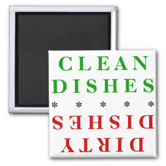 CLEAN/DIRTY DISHES DISHWASHER MAGNET