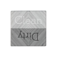 Clean | Dirty Dishes Dishwasher Stone Magnet at Zazzle