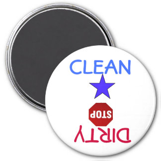 Clean Dirty Dishes in Dishwasher Refrigerator Magnet