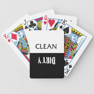 Clean Dirty Dishes Magnet Bicycle Playing Cards