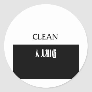 Clean Dirty Dishes Magnet Classic Round Sticker