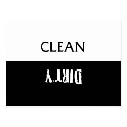 Clean Dirty Dishes Magnet Postcard