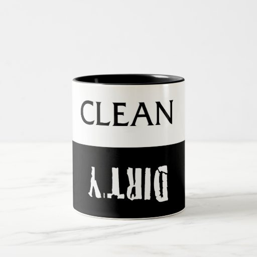 Clean Dirty Dishes Magnet Two-Tone Coffee Mug