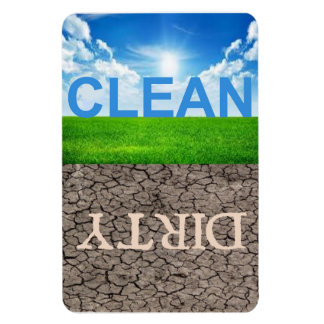 "Clean Dirty Dishwasher 4""X6"" magnet"