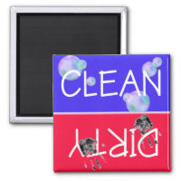 CLEAN-DIRTY Dishwasher Magnet magnet