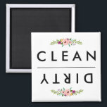 "CLEAN / DIRTY Dishwasher Magnet<br><div class=""desc"">Cute magnet for the dishwasher!</div>"