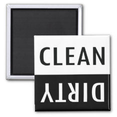 Clean Dirty Dishwasher Magnet at Zazzle