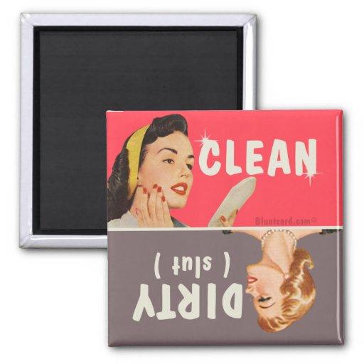 clean dirty dishwasher magnet bluntcard | Zazzle