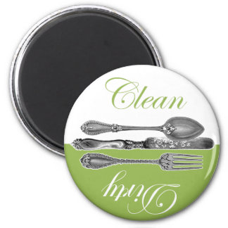 Clean & Dirty Dishwasher Magnet - Green
