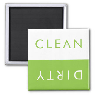 Clean Dirty Dishwasher Magnet in Apple & White