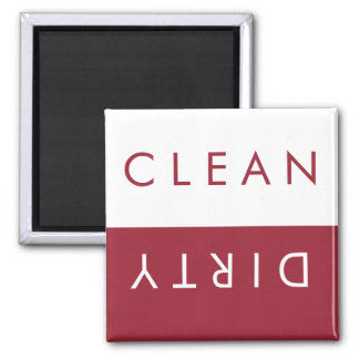 Clean/Dirty Dishwasher Magnet in Red/White