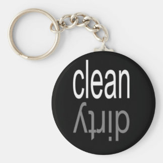 Clean/Dirty Dishwasher Magnet Keychain