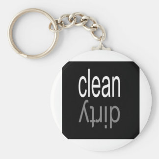 Clean/Dirty Dishwasher Magnet Keychain