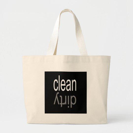 Clean/Dirty Dishwasher Magnet Large Tote Bag