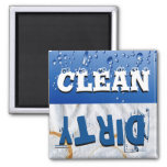 Clean & Dirty Dishwasher Magnet Magnets