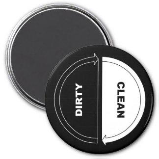 Clean-Dirty dishwasher magnet (on black)