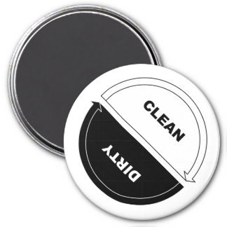 Clean-Dirty dishwasher magnet (on white)