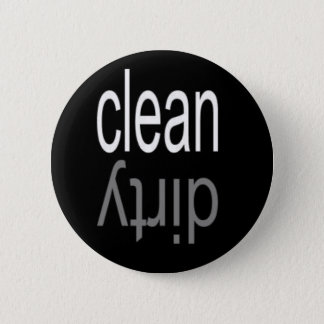 Clean/Dirty Dishwasher Magnet Pinback Button