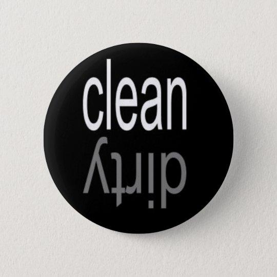 Clean/Dirty Dishwasher Magnet Pinback Button