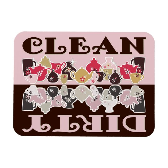 CLEAN-DIRTY Dishwasher Magnet - Retro Flex 2