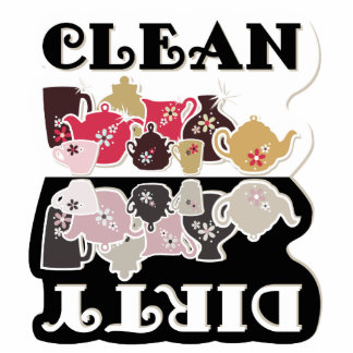 CLEAN-DIRTY Dishwasher Magnet - Sculpture Magnet