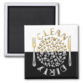 CLEAN-DIRTY Dishwasher Magnet - Square