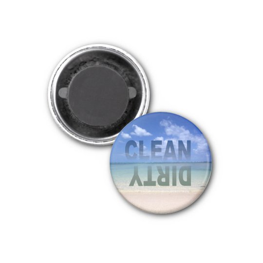 Clean Dirty Dishwasher Magnet With Beach Zazzle Com