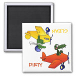"""CLEAN / DIRTY"" Flying Gators Dishwasher Magnet"