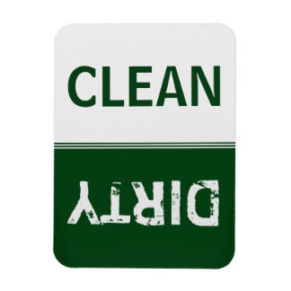 Clean Dirty Forest Green Dishwasher Rectangular Photo Magnet
