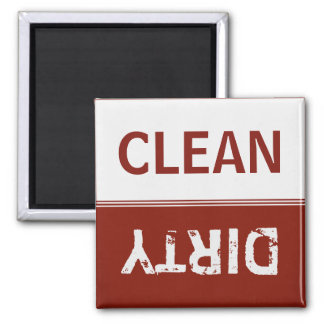 Clean Dirty Garnet Red Dishwasher Magnet