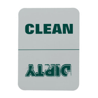 Clean Dirty (Green/Gray) Rectangular Photo Magnet