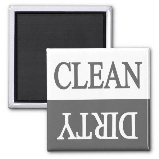 Clean dirty-grey dishwasher magnet