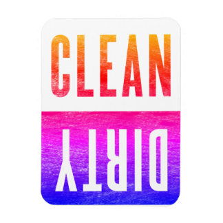 Clean | Dirty Letterpress Style Dishwasher Ipanema Magnet