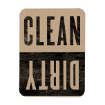 Clean | Dirty Letterpress Style Dishwasher Magnet<br><div class='desc'>for when you just don&#39;t know whether the dishwasher is clean or dirty or somewhere in-between</div>