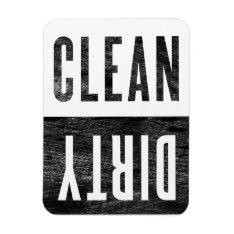 Clean | Dirty Letterpress Style Dishwasher Magnet at Zazzle