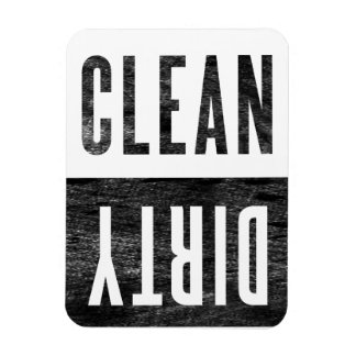 Clean | Dirty Letterpress Style Dishwasher Magnet