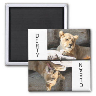 Clean Dirty Lioness Fridge Magnets