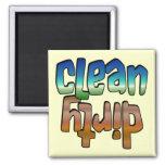Clean Dirty Magnet Blue Brown, u change background