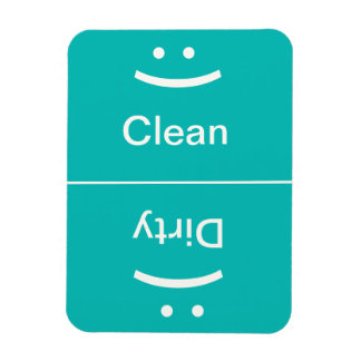 Clean Dirty Magnet - Blue/Green - (Smile/Frown)
