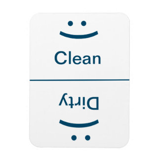 Clean Dirty Magnet - Blue - (Smile/Frown)