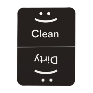 Clean Dirty Magnet - Dark Gray - (Smile/Frown)