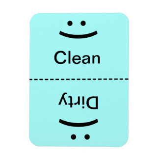 Clean Dirty Magnet Lt. Blue (Smile/Frown)