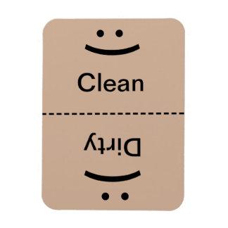 Clean Dirty Magnet - Lt. Brown - (Smile/Frown)